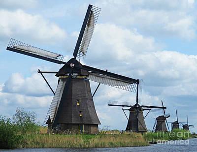 Photograph - Dutch Windmills 47 by Randall Weidner
