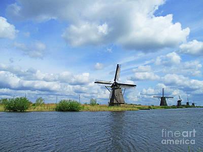 Photograph - Dutch Windmills 48 by Randall Weidner