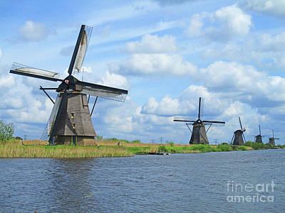 Photograph - Dutch Windmills 49 by Randall Weidner
