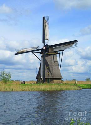 Photograph - Dutch Windmills 53 by Randall Weidner
