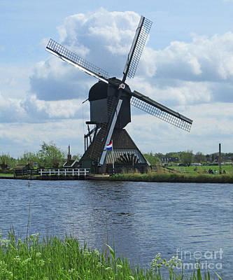 Photograph - Dutch Windmills 54 by Randall Weidner