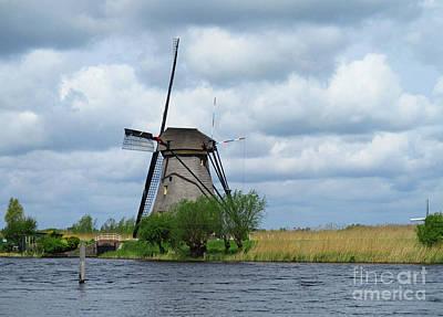 Photograph - Dutch Windmills 58 by Randall Weidner
