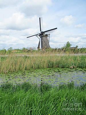 Photograph - Dutch Windmills 63 by Randall Weidner