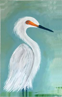 Painting - Dutchess Egret Art By Brenda Boss by Brenda Boss