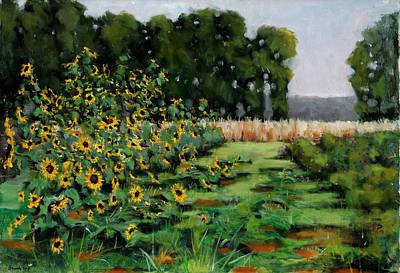 Hacunda Wall Art - Painting - Dutchess County Sunflowers by Robert James Hacunda