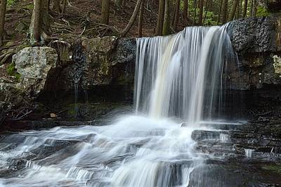 Photograph - Dutchman Falls Upper Tier 1 Loyalsock State Forest by Joel E Blyler