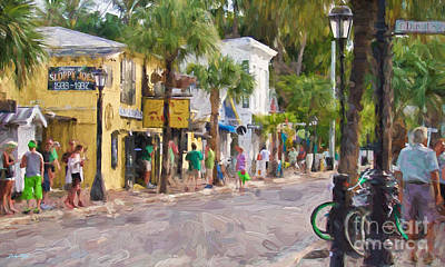 Painting - Duval Street Edition 2 by Judy Kay