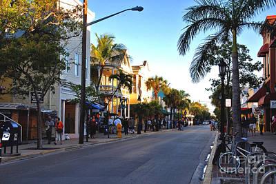 Duval Street In Key West Print by Susanne Van Hulst