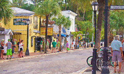 Painting - Duval Street by Judy Kay