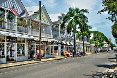 Digital Art - Duval Street - Key West by Timothy Lowry