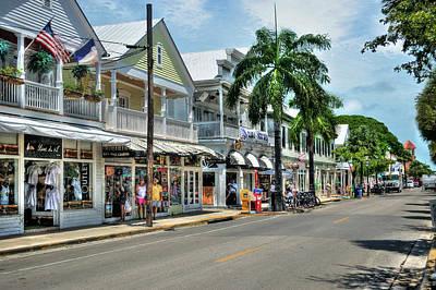 Digital Art - Duval Street - Key West by Timothy Lowry