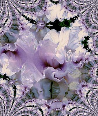 Photograph - Duvet Iris Fractal by Robert Kernodle