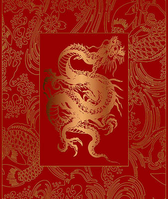 Photograph - Duvet Oriental Dragon by Robert Kernodle