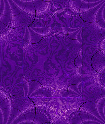 Photograph - Duvet Purple Fractal by Robert Kernodle