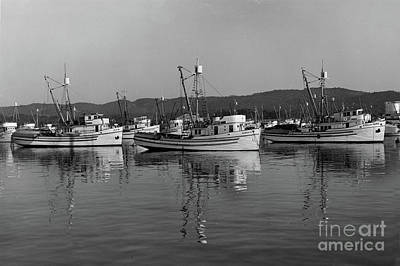 Photograph - Dux, Robert B, Stella Maris Purse Seiners At Monterey Circa 1950 by California Views Archives Mr Pat Hathaway Archives