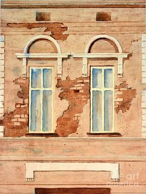 Serbia Painting - Dva / Two - Watercolour Cityscape Painting By Nenad Kojic by Nenad Kojic
