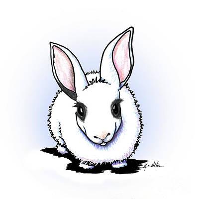 Drawing - Dwarf Hotot Bunny Rabbit by Kim Niles