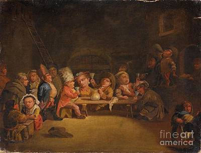 Lombard School Painting - Dwarfs In A Tavern by Celestial Images