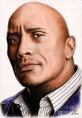 Painting - Dwayne Johnson Color by Andrew Read