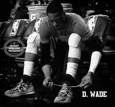 Dwayne Wade Art Print by Jerome Lynch