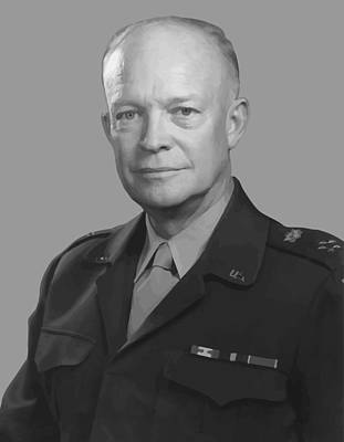 U.s Army Painting - Dwight D. Eisenhower  by War Is Hell Store
