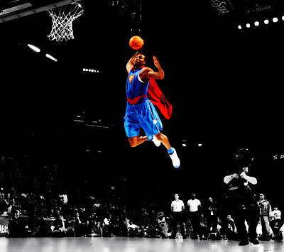Dwight Howard Superman Dunk Art Print by Brian Reaves