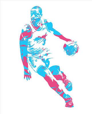 Miami Heat Mixed Media - Dwyane Wade Miami Heat Pixel Art 40 by Joe Hamilton
