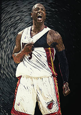 Marquette Wall Art - Digital Art - Dwyane Wade by Zapista