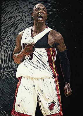 Chicago Bulls Digital Art - Dwyane Wade by Taylan Apukovska