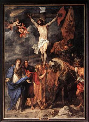 Digital Art - Dyck Anthony Van Golgotha by Sir Antony van Dyck