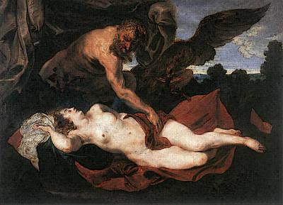 Digital Art - Dyck Anthony Van Jupiter And Antiope by Sir Antony van Dyck