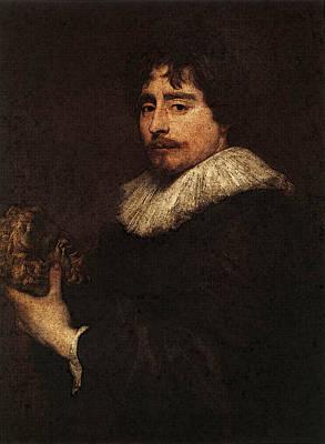 Digital Art - Dyck Anthony Van Portrait Of The Sculpor Duquesnoy by Sir Antony van Dyck