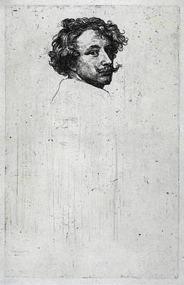Digital Art - Dyck Anthony Van Self Portrait C by Sir Antony van Dyck