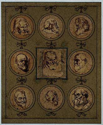 Digital Art - Dyck Anthony Van Sheet Of Studies by Sir Antony van Dyck