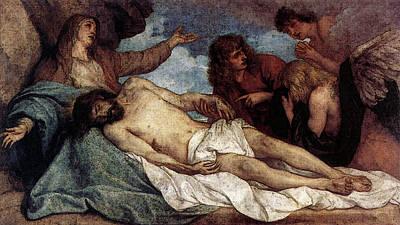 Digital Art - Dyck Anthony Van The Lamentation Of Christ by Sir Antony van Dyck