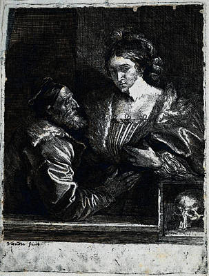 Digital Art - Dyck Anthony Van Titian S Self Portrait With A Young Woman by Sir Antony van Dyck