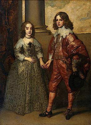 Digital Art - Dyck Anthony Van William II Prince Of Orange And Princess Henrietta Mary Stuart by Sir Antony van Dyck
