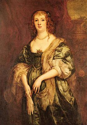 Bedford Digital Art - Dyck Sir Anthony Van Portrait Of Anne Carr Countess Of Bedford by Sir Antony van Dyck