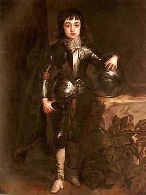 Digital Art - Dyck Sir Anthony Van Portrait Of Charles II When Prince Of Wales by Sir Antony van Dyck