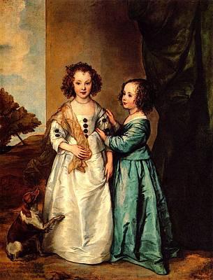Digital Art - Dyck Van Wharton Sisters by Sir Antony van Dyck