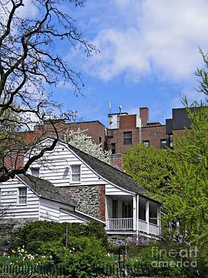 Fieldstone Photograph - Dyckman House 2 by Sarah Loft