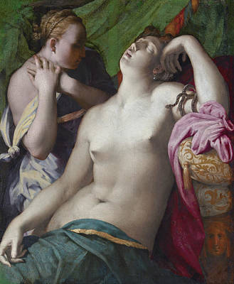 Painting - Dying Cleopatra by Rosso Fiorentino
