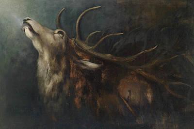 Painting - Dying Deer by Karl Wilhelm Diefenbach