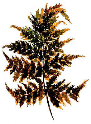 Painting - Dying Fern Leaf by Garima Srivastava