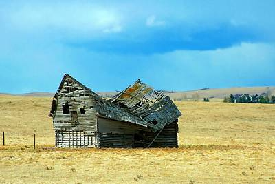 Dying Old Barn Print by Mario Brenes Simon