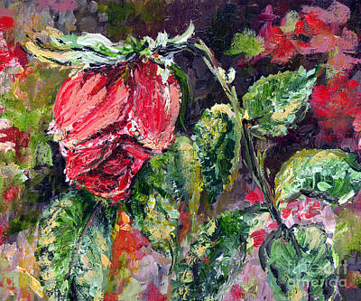 Painting - Dying Rose by Ginette Callaway