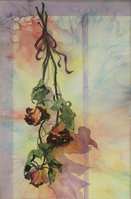 Painting - Dying Roses by Jerry Kelley