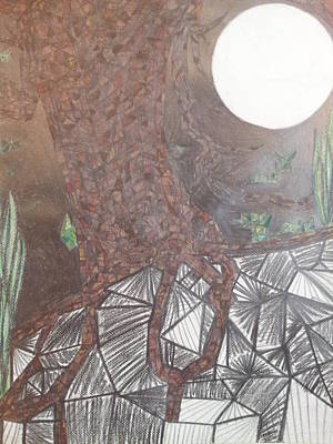 Rain Forest Animals Drawing - Dying Tree 4 by William Douglas