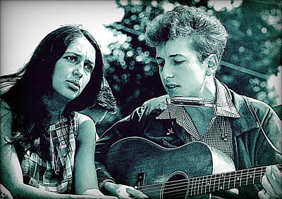 Photograph - Dylan And Baez 1963 by Joy McKenzie