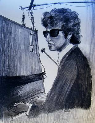 Abstract Expressionism Drawing - Dylan At The Piano by Judith Redman
